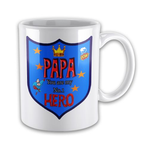 PAPA You Are My Number 1 Hero Novelty Gift Mug